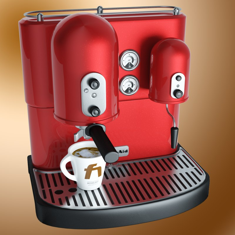 kitchen aid coffee machine 3d model