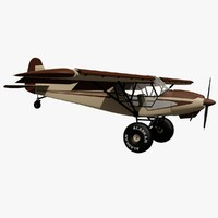 piper super cub bush 3d model