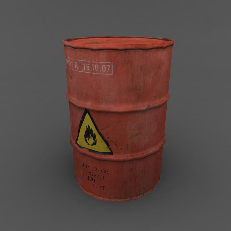 3d model barrel ready