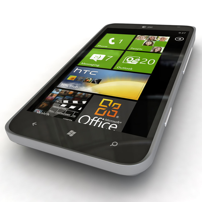 new htc titan ii 3d model