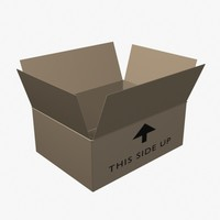 3d model of shipping carton