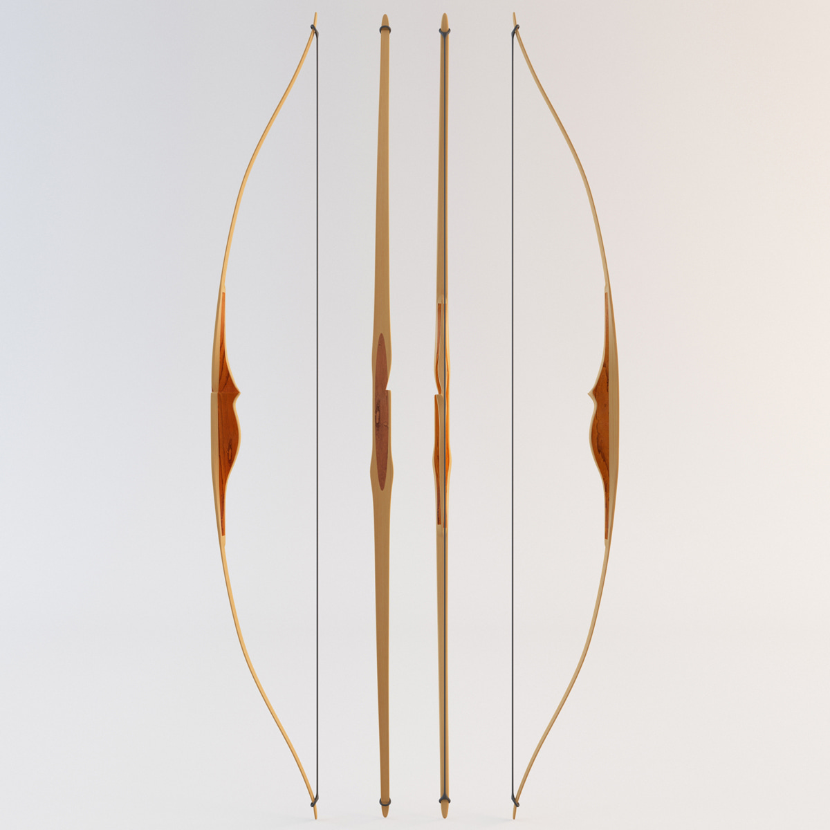 longbow weapon 3d model