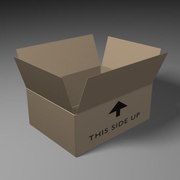 3d model of shipping carton