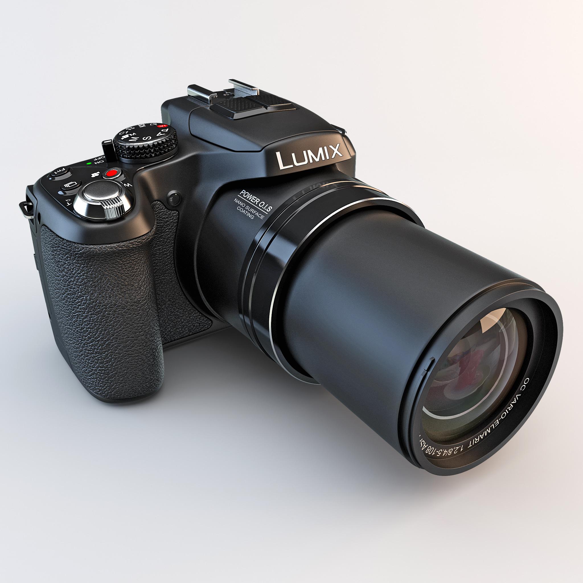 3d 3ds panasonic dmc-fz20 video camera