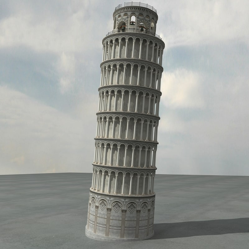 leaning tower pisa max