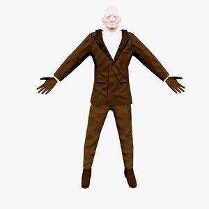 3d model of character agent man