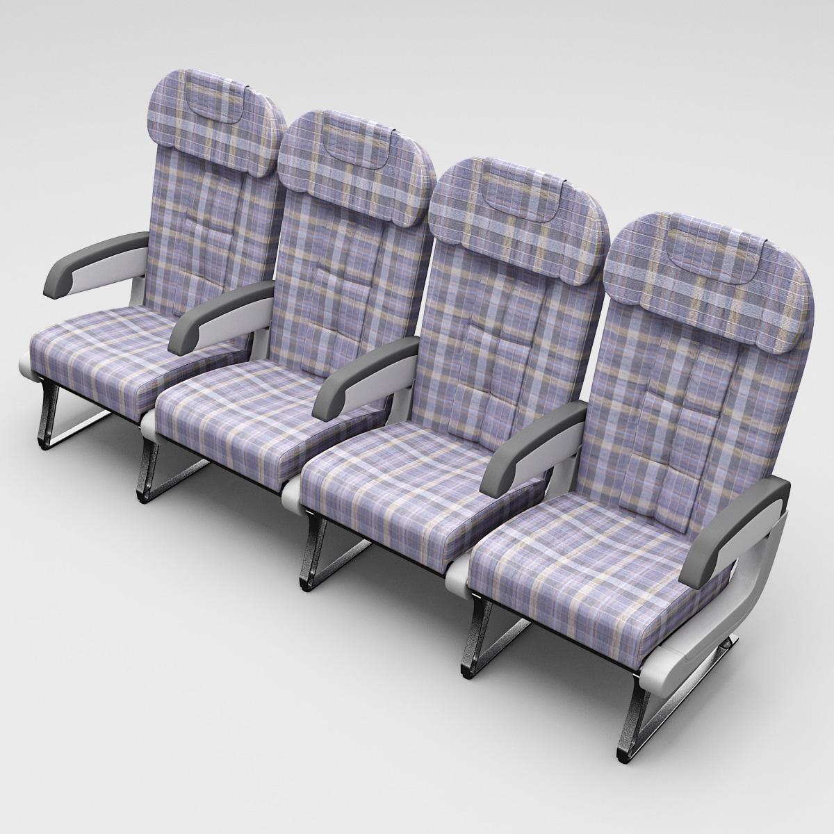 aircraft passenger seats 2 3d model