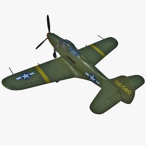 3d model fighter bell p-39 airacobra