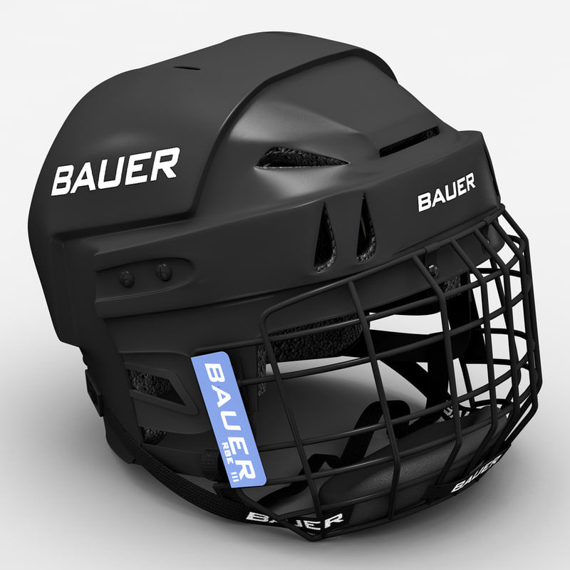 3d model hockey helmet bauer m104
