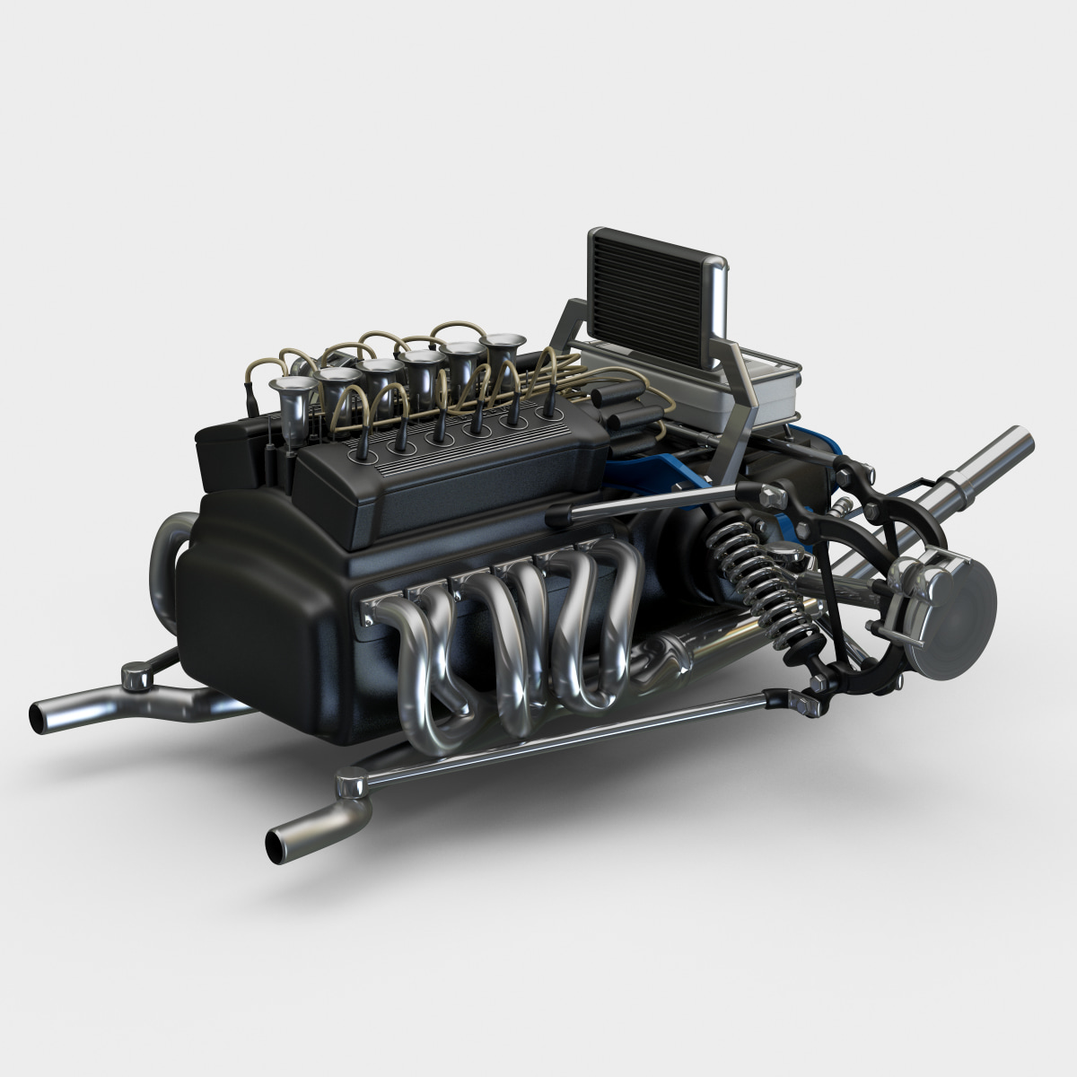 3ds max racing car engine