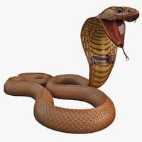 3d model snake cobra pose 5