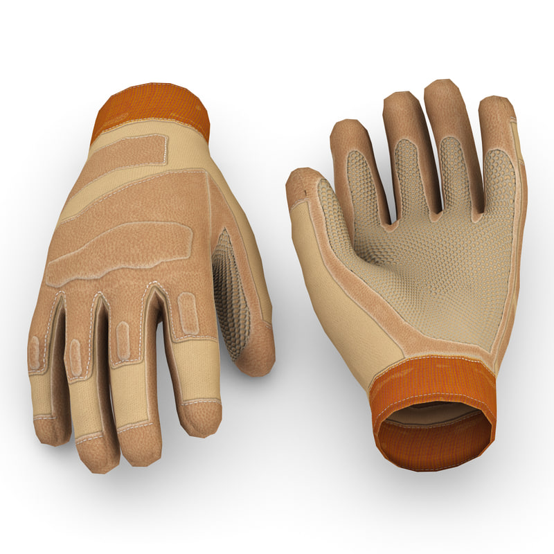 soldier gloves v2 3d c4d