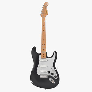 3d fender stratocaster electric guitar model