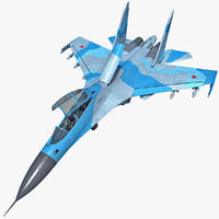 realistic su 30 rigged 3d model