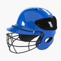 Baseball Batting Helmet With Mask
