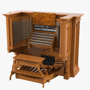 3d organ keyboard