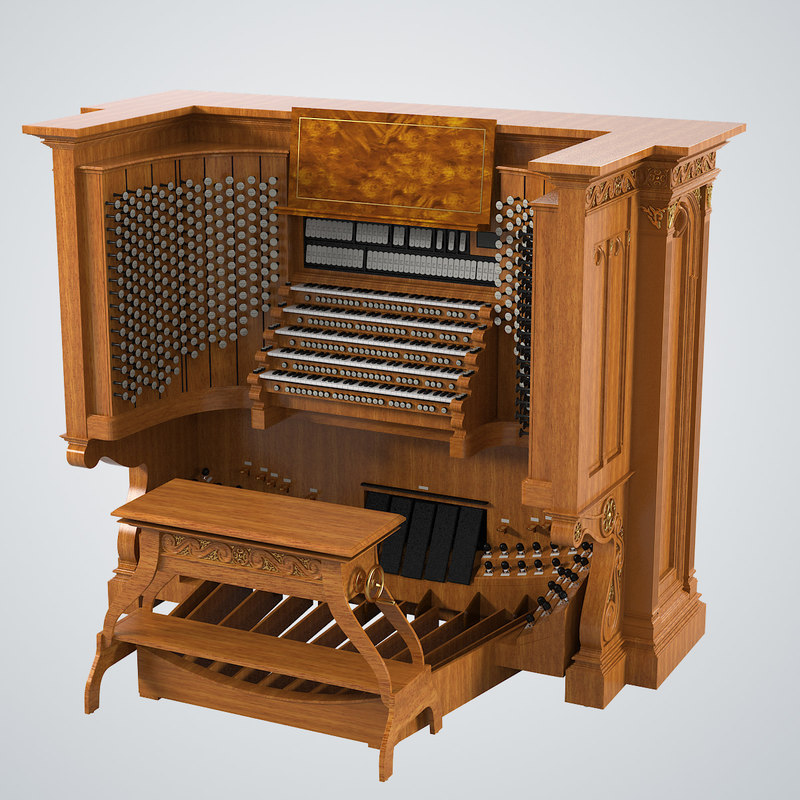 3d organ keyboard