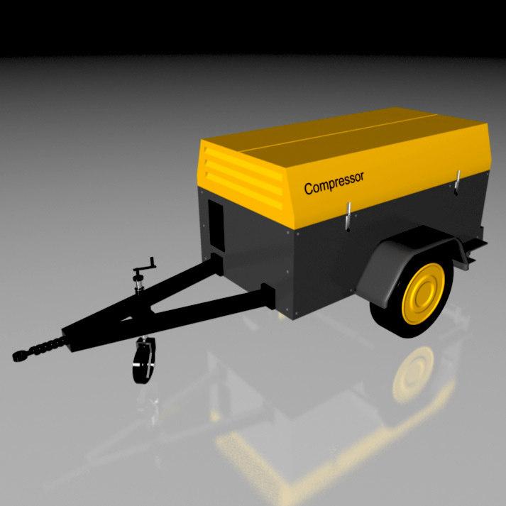 3d model heavy compressor