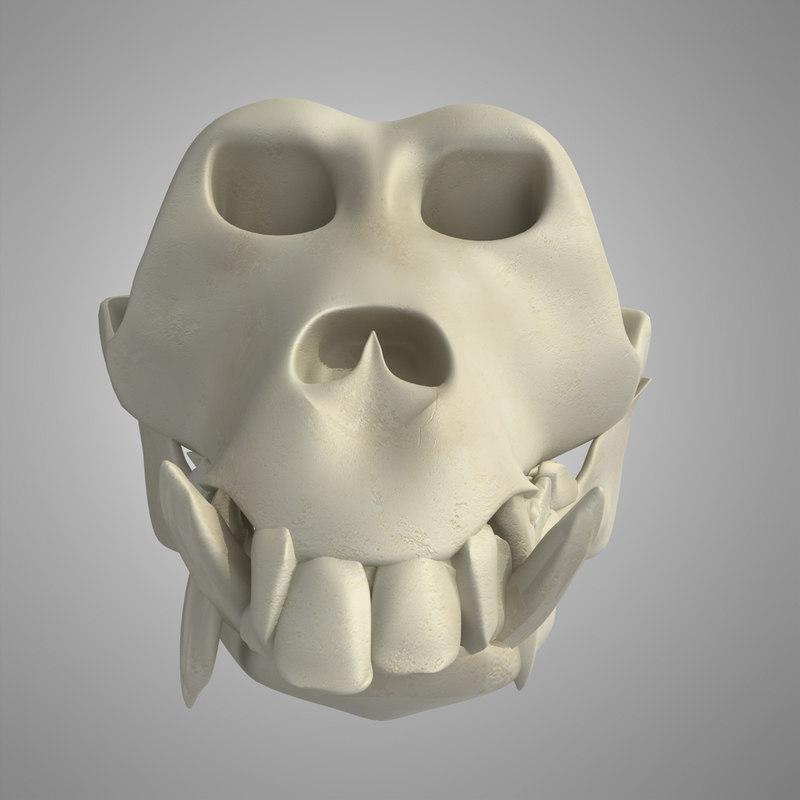 skeleton monkey 3d max
