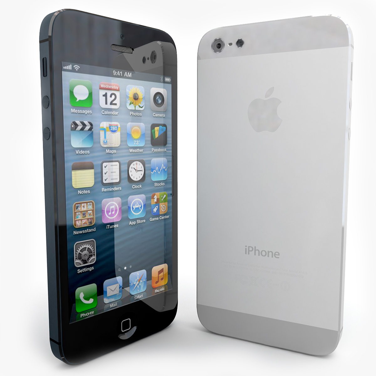 Tout Nouvel Apple Iphone 5 Noir Et Blanc