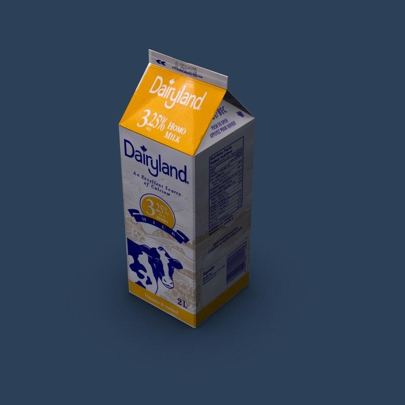 milk carton 3d max