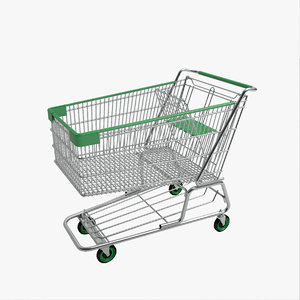 shopping cart 3d 3ds