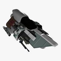 fi star fighter 3d max