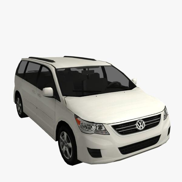 volkswagen routan 3d model