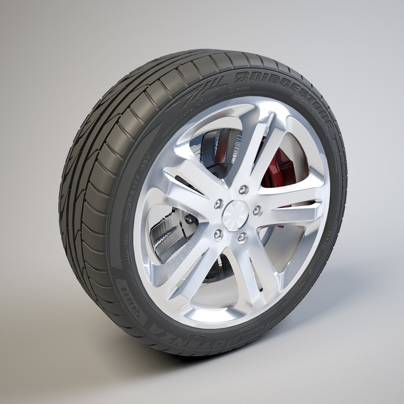 3d 5 spokes bridgestone potenza model
