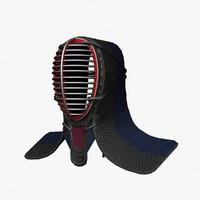 kendo headgear 3d dxf
