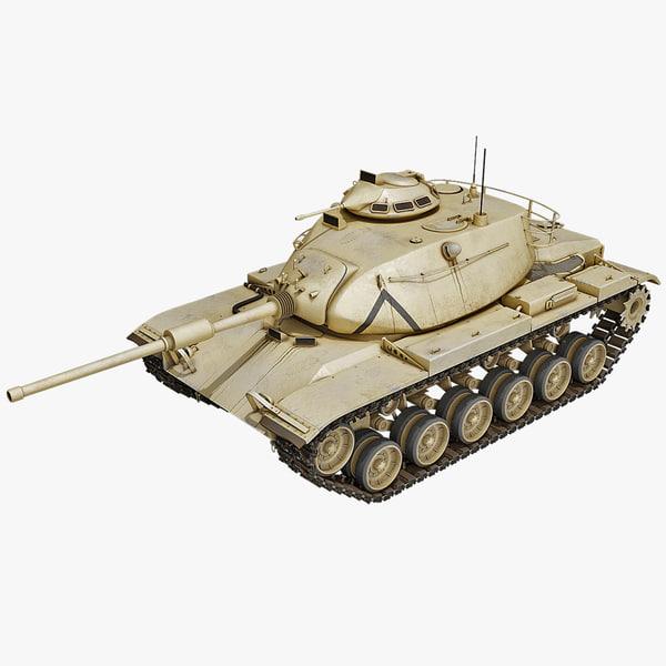 3d model of m60 patton combat tank