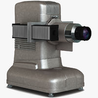 old slide projector 3d c4d