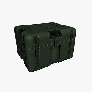 3d model military box