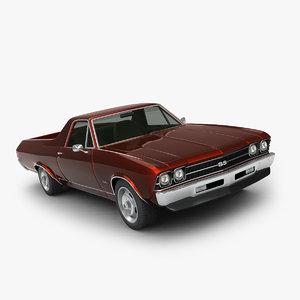 3d model chevrolet el camino 1969