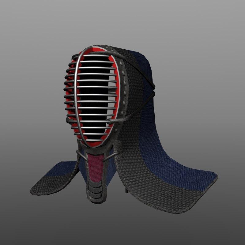 kendo headgear 3d dxf