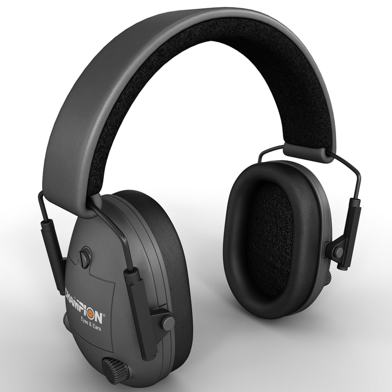 3d electronic ear muffs model