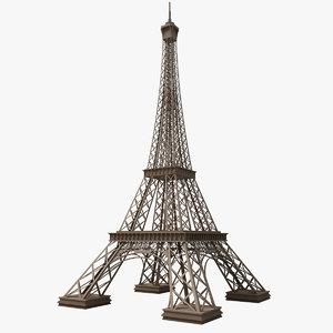 eiffel tower 3d max