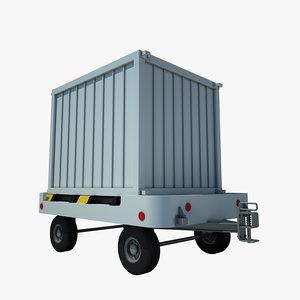 3ds max baggage cart airpt