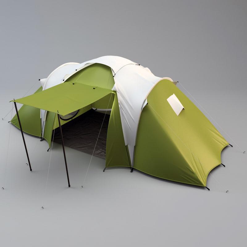 3d camping tent 4 model