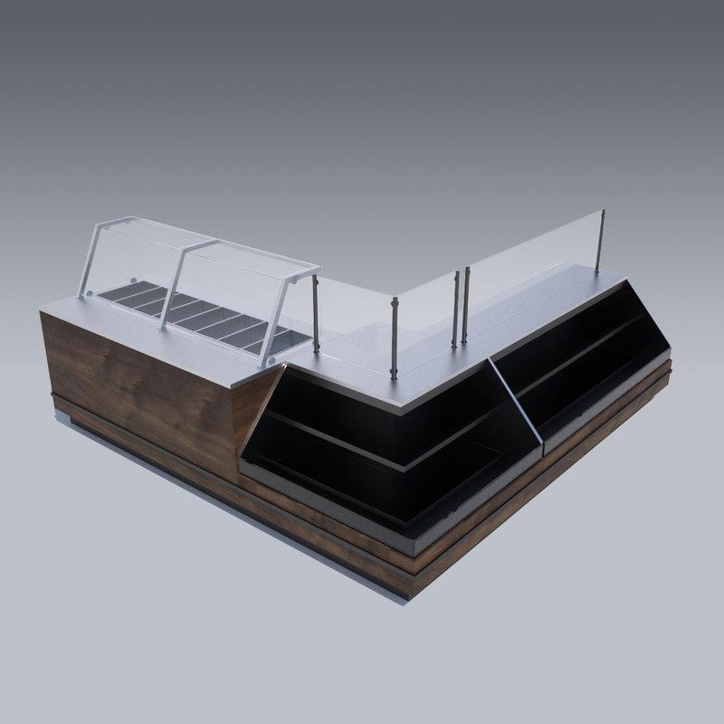 cold sandwich case 3d model