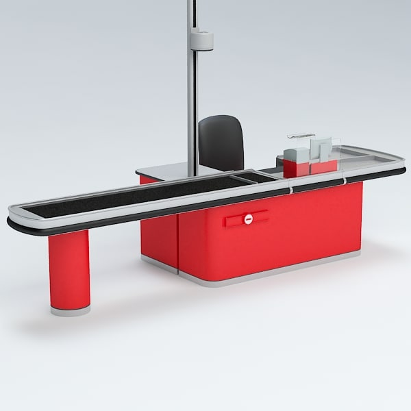 3d model of cash counter