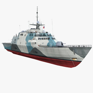 uss freedom lcs 1 3d max
