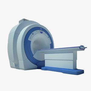 mri scanner scan 3d obj