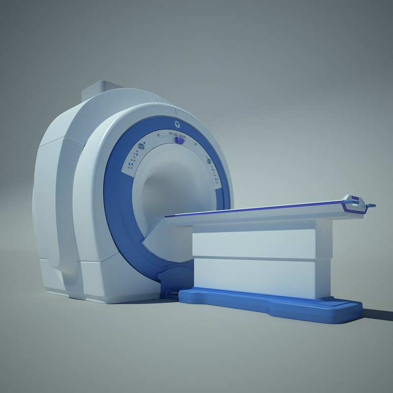 mri scanner scan 3d obj