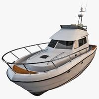 motorboat yacht beneteau antares 3d c4d