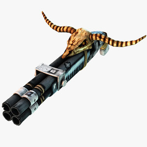 barreled shotgun 3d model