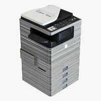 3d office colour printer sharp model