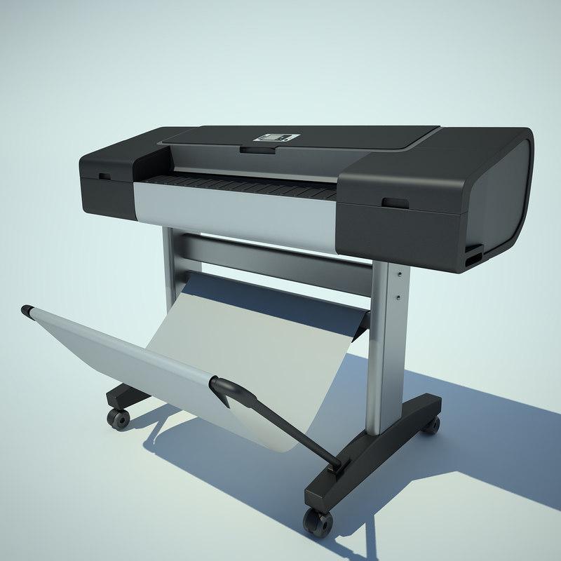 3d model printer hp designjet