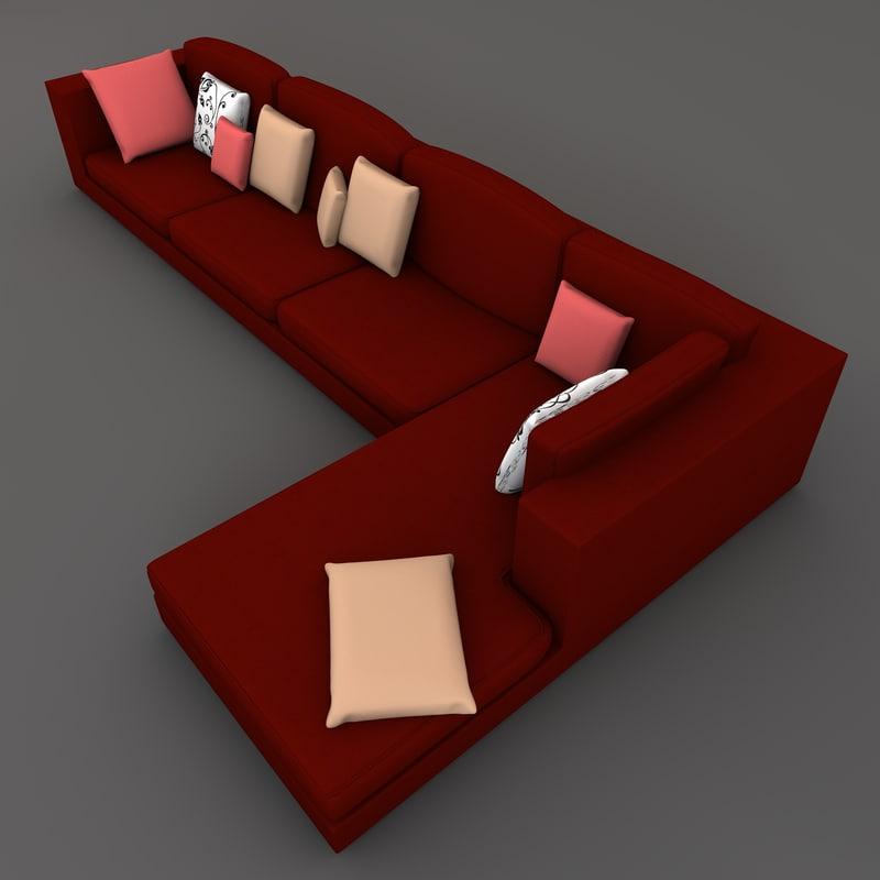 sectional sofa 3d model
