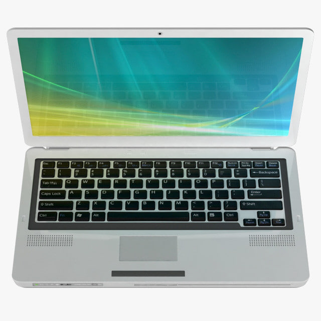 3d generic laptop keyboard model